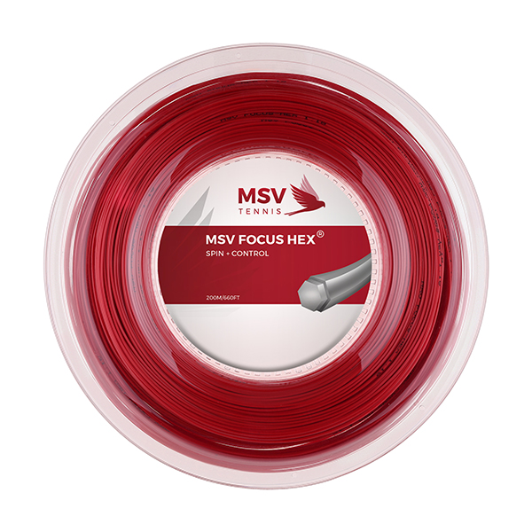 MSV Focus HEX® Tennissaite 200m 1,27mm rot