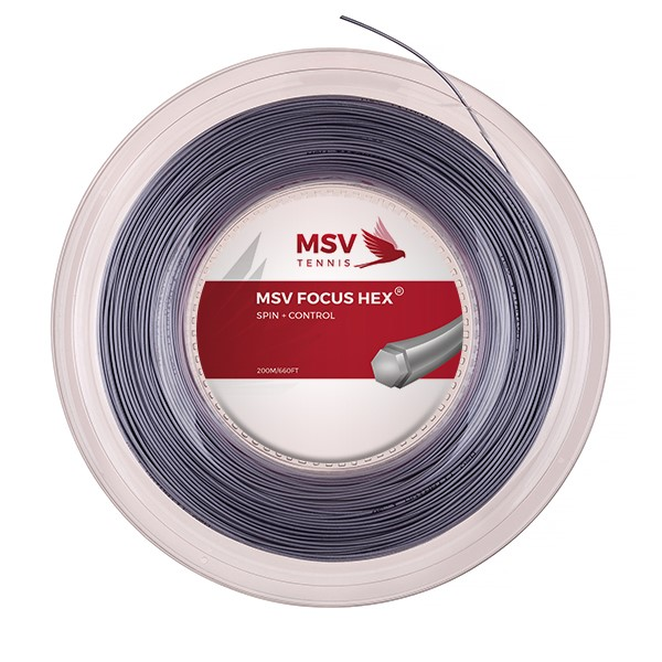 MSV Focus HEX® Tennis String 200m 1,18mm silver