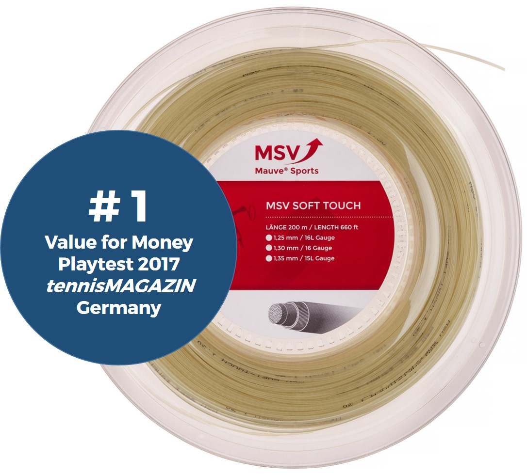MSV Soft Touch Tennis String 200m 1,25mm natural