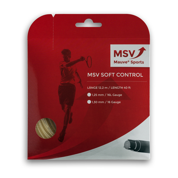 MSV Soft Control Tennis String 12m 1,30mm natural