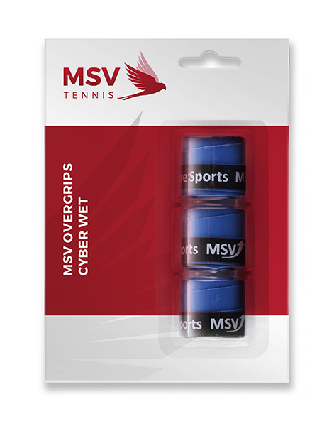MSV Overgrip Cyber Wet,  3 / Pack, blau