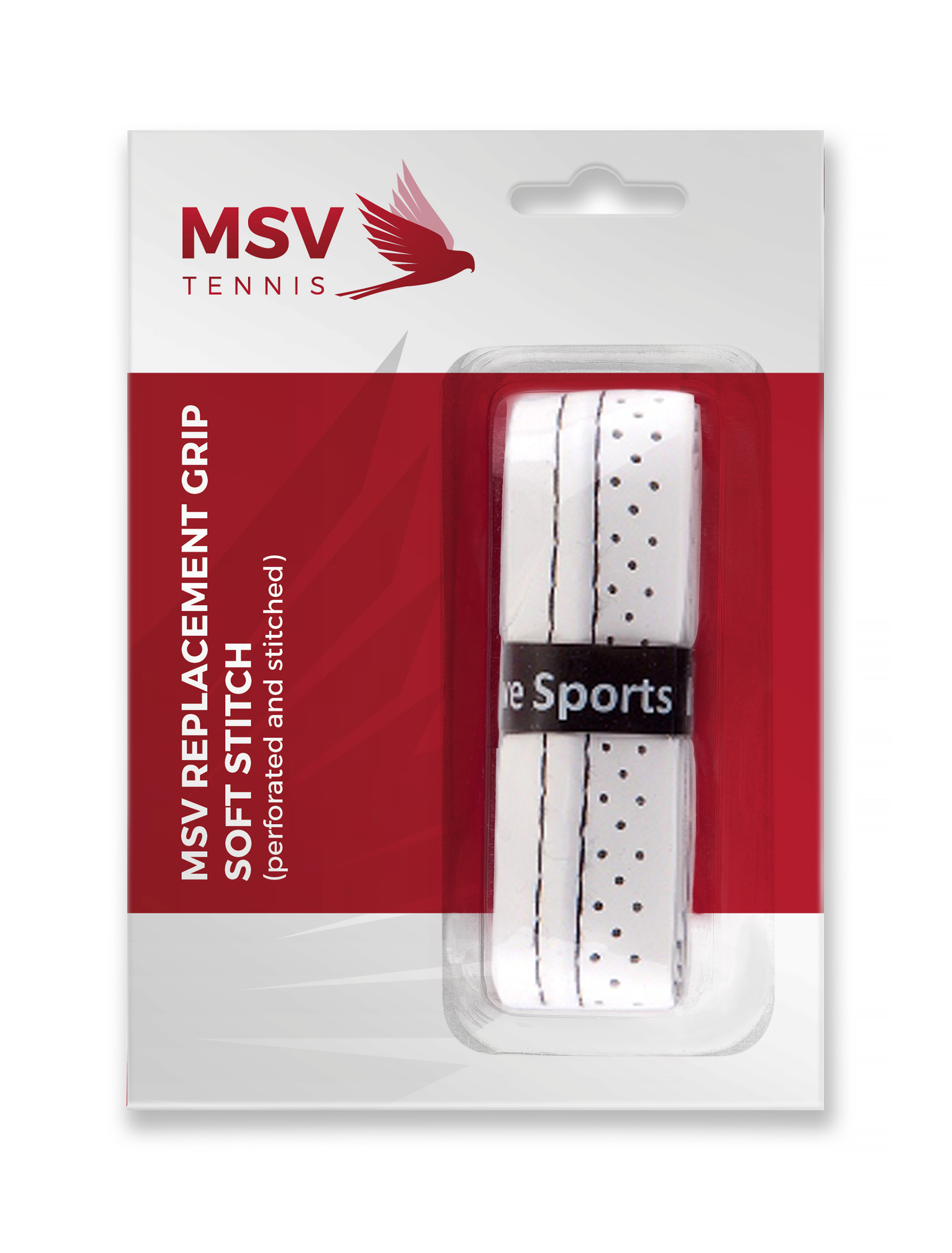 MSV Basic Grip Soft Stitch (perforated & stitched), white