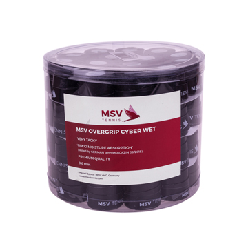 MSV Overgrip Cyber Wet, 60 / Pack, schwarz