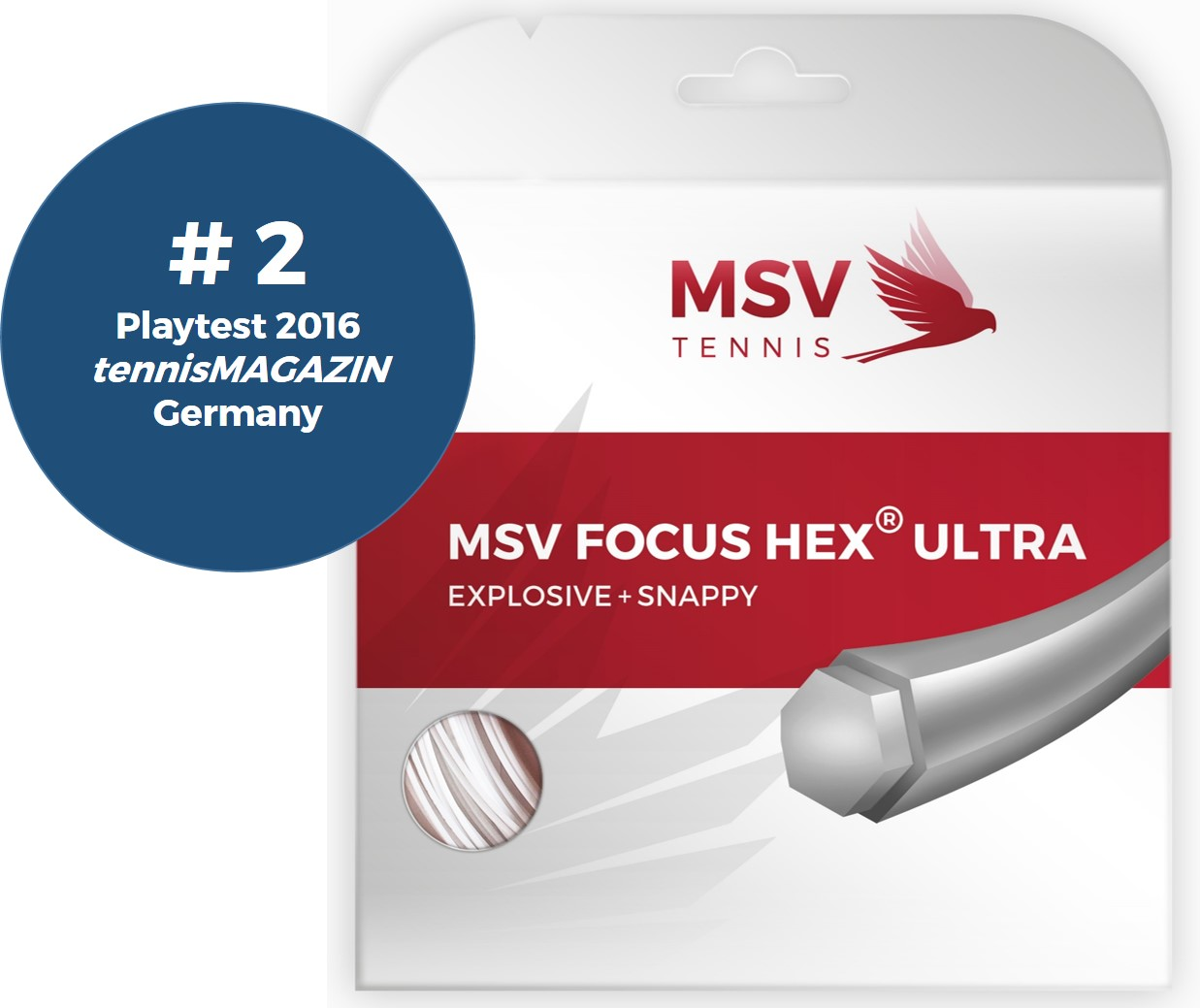 MSV Focus HEX® Ultra Tennissaite 12,2m 1,15mm weiß