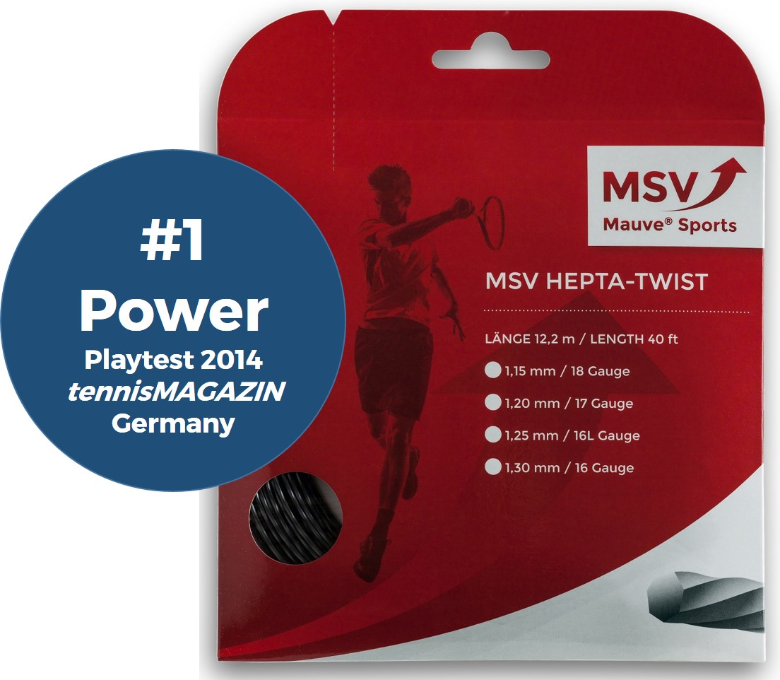 MSV Hepta Twist Tennissaite 12m 1,15mm anthrazit