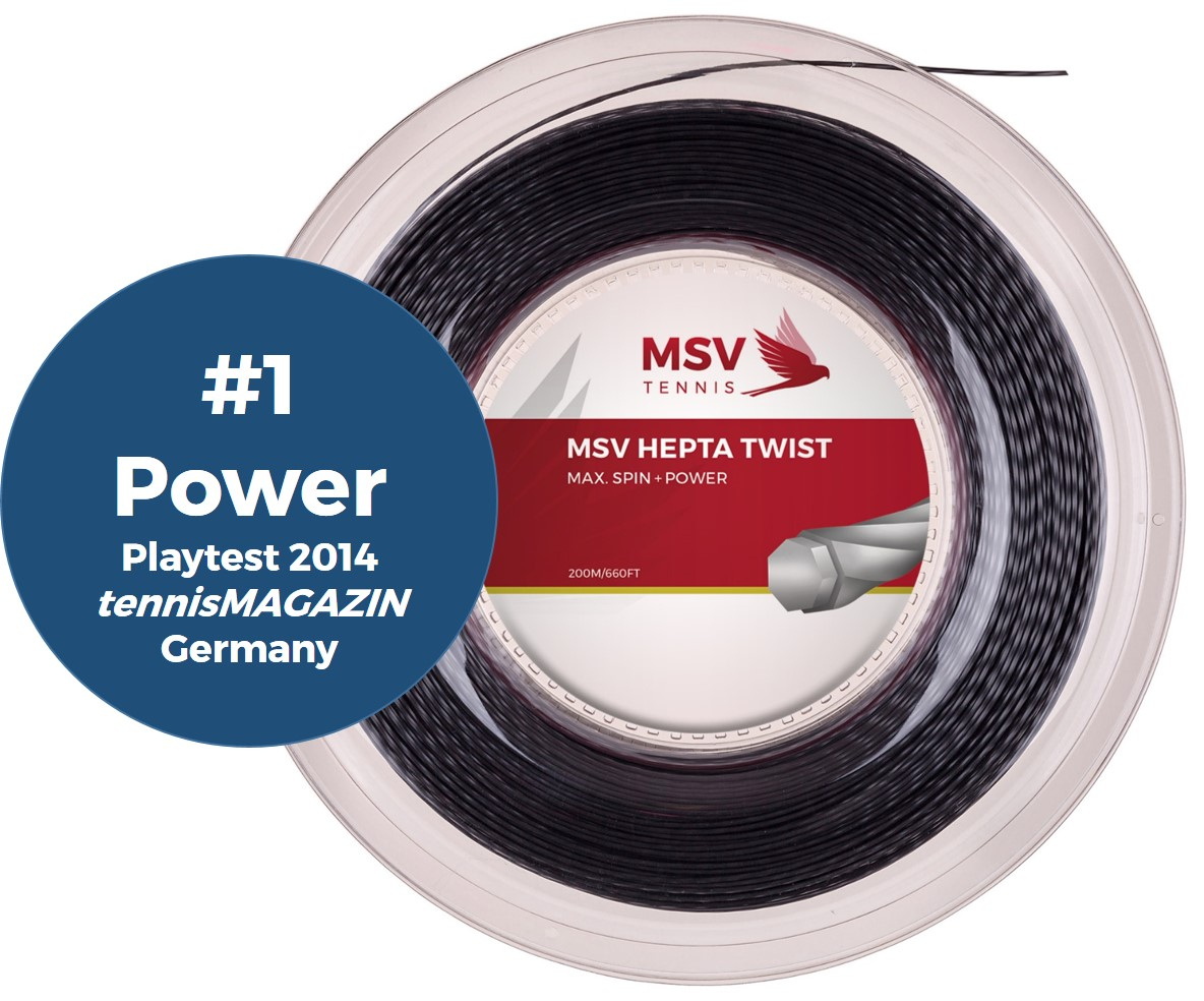 MSV Hepta Twist Tennissaite 200m 1,20mm anthrazit