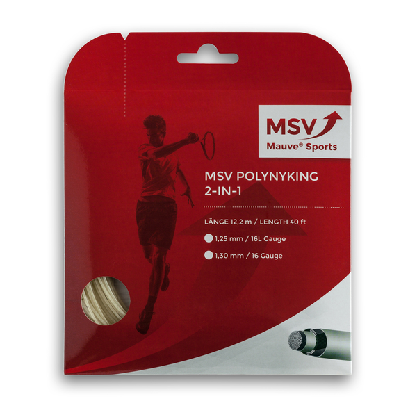 MSV PolyNyKing 2in1 Tennis String 12m 1,25mm natural