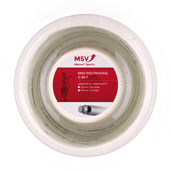 MSV PolyNyKing 2in1 Tennissaite 200m 1,30mm natur