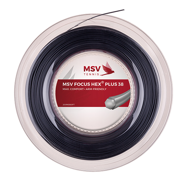 MSV Focus HEX® Plus 38 Tennis String 200m 1,30mm black