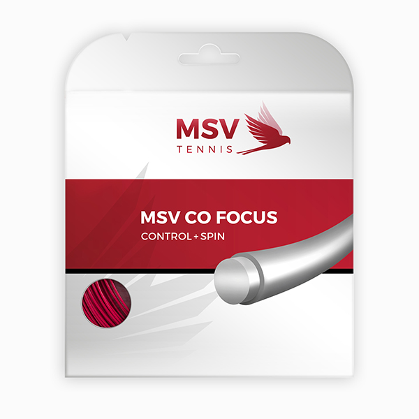 MSV Co Focus Tennis String 12m 1,23mm red