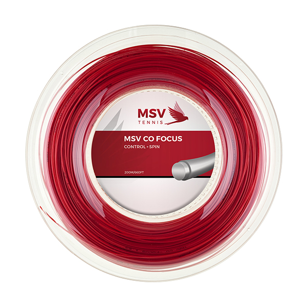 MSV Co Focus Tennissaite 200m 1,23mm rot