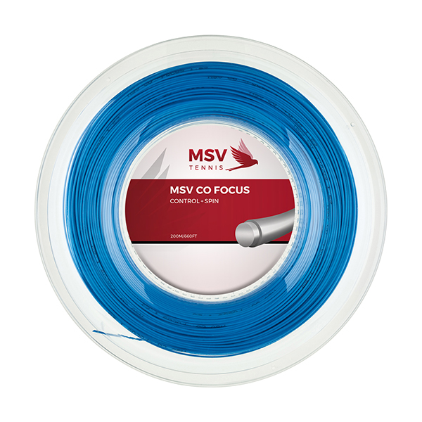 MSV Co Focus Tennissaite 200m 1,23mm hellblau