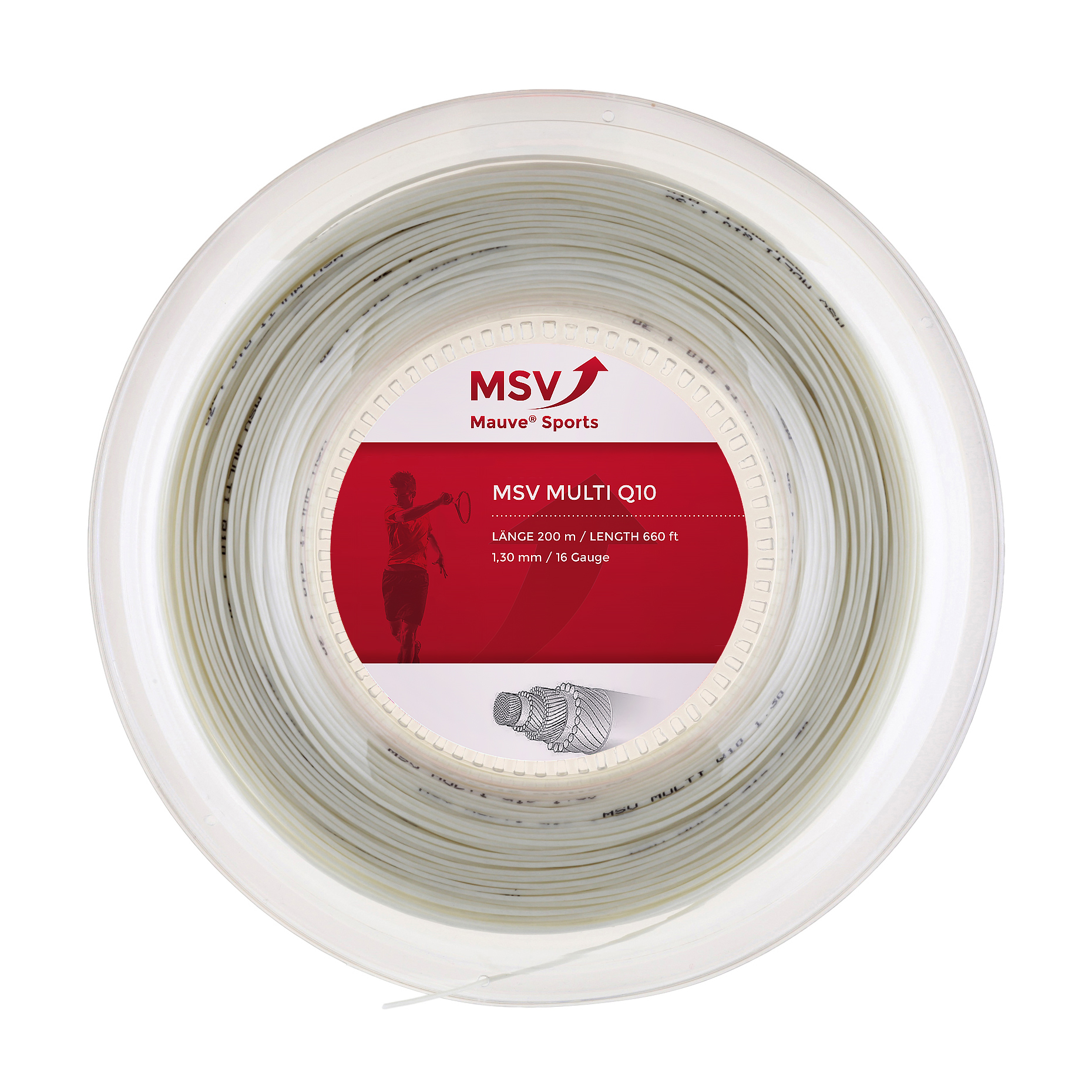 MSV Multi Q10 Tennis String 200m 1,30mm white