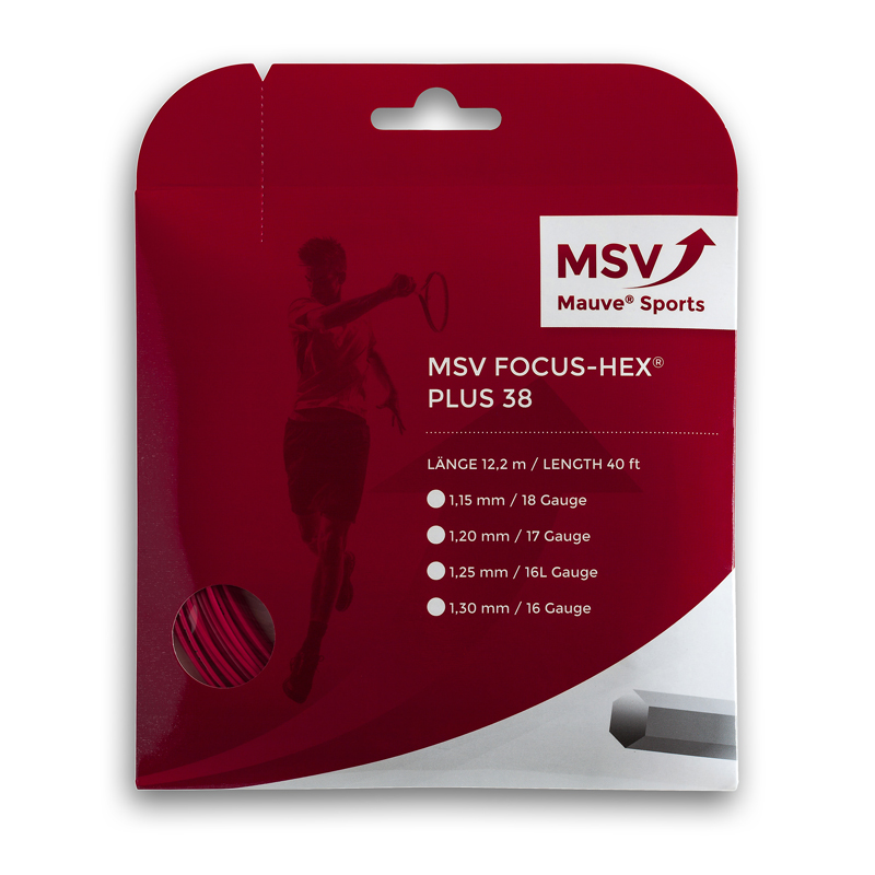MSV Focus HEX® Plus 38 Tennissaite 12m 1,15mm rot