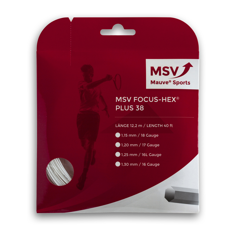 MSV Focus HEX® Plus 38 Tennis String 12m 1,30mm white