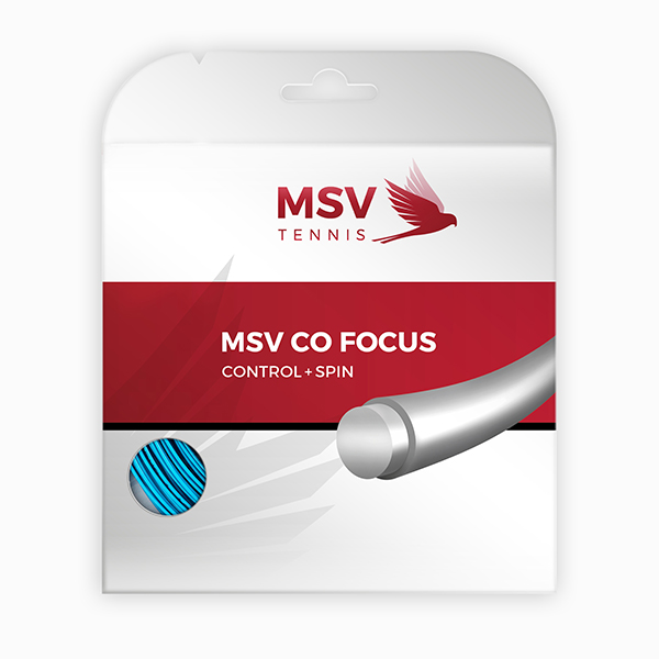 MSV Co Focus Tennissaite 12m 1,23mm hellblau